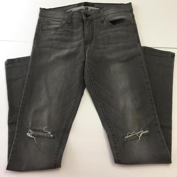 Flying Monkey Denim - Flying Monkey Distressed Skinny Jeans Gray 28
